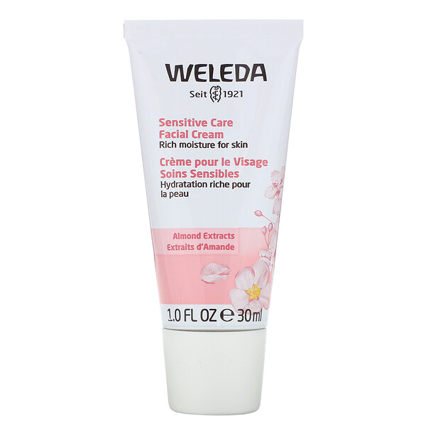Sensitive Care Facial Cream, Almond Extracts, 1.0 fl oz (30 ml)