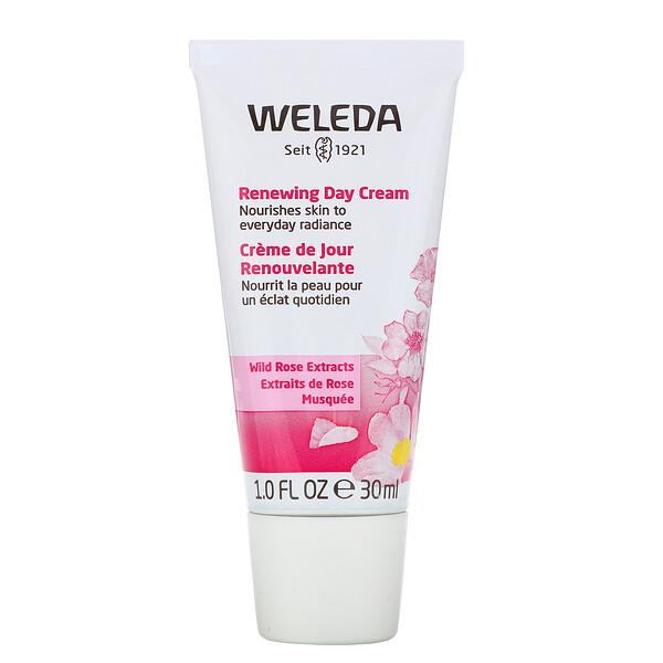 Renewing Day Cream, Wild Rose Extracts, 1.0 fl oz (30 ml)