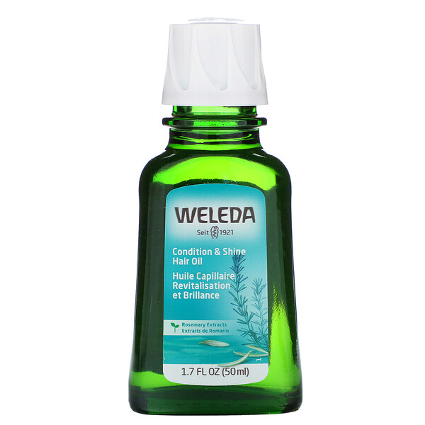 Weleda, Condition & Shine Hair Oil, Rosemary Extracts, 1.7 fl oz (50 ml)