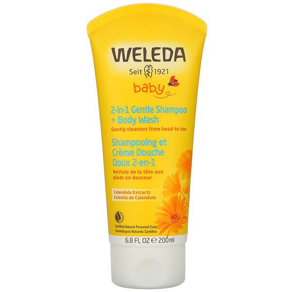 Calendula Extracts, 2-in-1 Gentle Shampoo + Body Wash, 6.8 fl oz (200 ml)