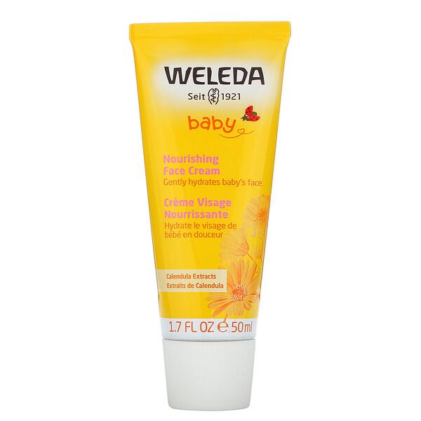 Baby,  Nourishing Face Cream, Calendula Extracts, 1.7 fl oz (50 ml)
