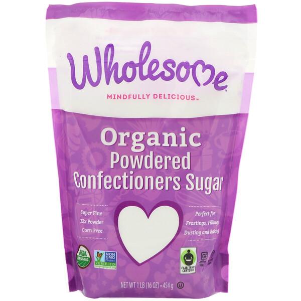 Wholesome , Органическая сахарная пудра, 16 унций (454 г) (Discontinued Item)