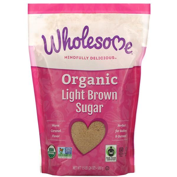 Органический легкий коричневый сахар, 1.5 фунта (680 г)