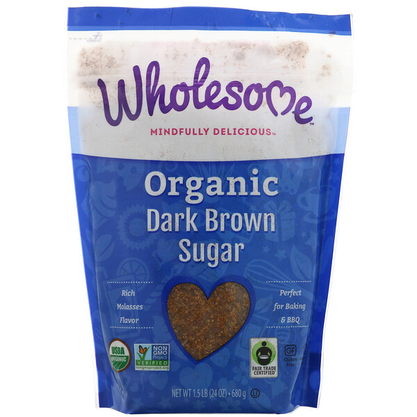 Органический коричневый сахар, 680г (24унции) – 1,5фунта