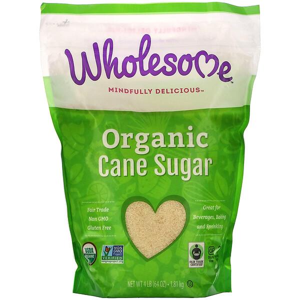 Органический тростниковый сахар, 1,81 кг (4 фунта)