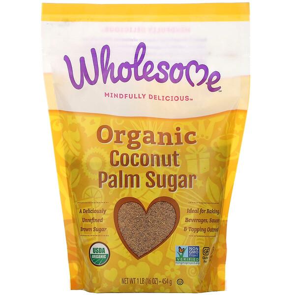 Wholesome, Органический сахар из кокосовой пальмы, 1 фунт (16 унций) — 454 г