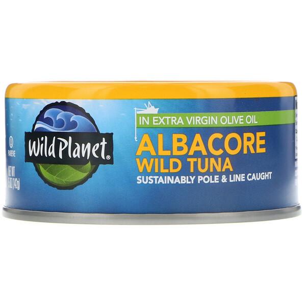 Дикий тунец альбакор в оливковом масле первого холодного отжима,  142 г