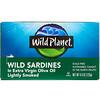 Wild Planet, Сардины, выловленные в диких условиях, в оливковом масле первого отжима, Слегка подкопченные, 4,4 унц. (125 г)