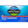Wild Planet, Сардины, выловленные в диких условиях, в воде, Без добавления соли, 4,4 унц. (125 г)