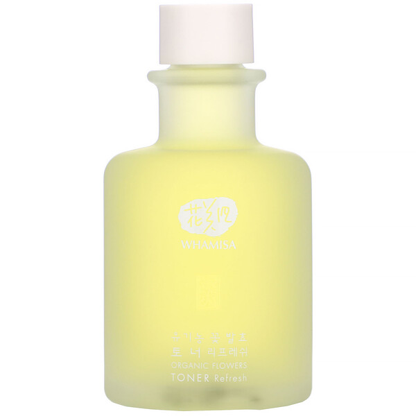 Organic Flowers, Toner, Refresh, 5.2 fl oz (155 ml)