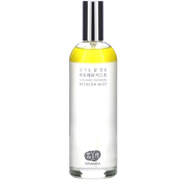 Organic Flowers, Refresh Mist, 3.3 fl oz (100 ml)