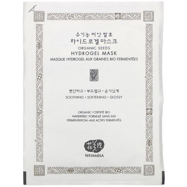 Whamisa, Organic Seeds, Hydrogel Mask, 1 Sheet