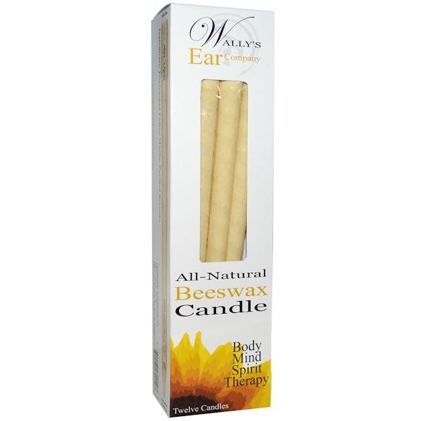 Ушные свечи, люксовая коллекция, без запаха, 12 свечей