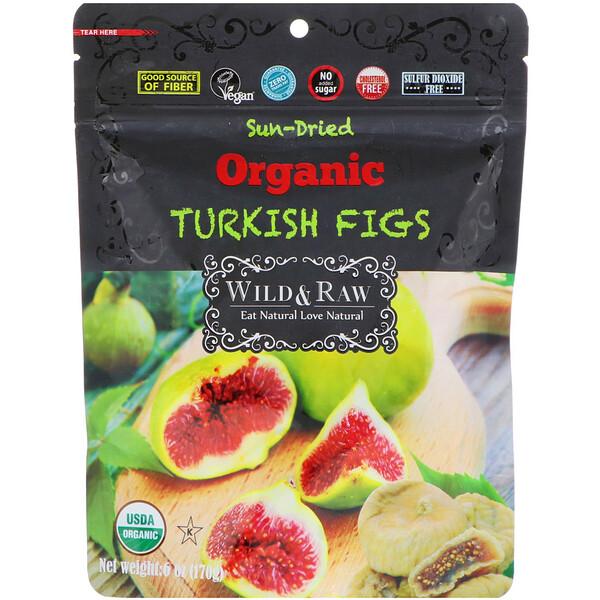 Nature's Wild Organic, Высушенный на солнце органический турецкий инжир, 6 унц. (170 г)