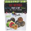 Nature's Wild Organic, All Natural, закуски из фруктов и орехов, фит-шарики, инжир + грецкие орехи + семена чиа, 5,1 унции (144 г)