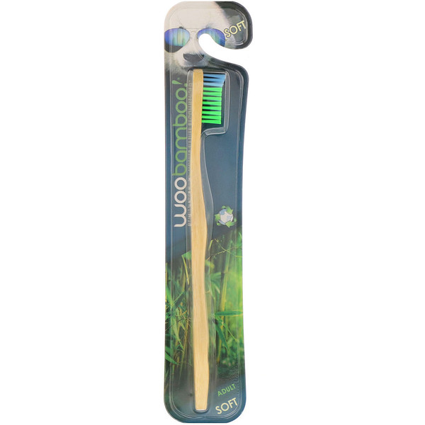 Woobamboo, Зубная щетка для взрослых, мягкая, 1шт.
