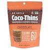 Sejoyia, Coco-Thins, печенье-закуска с кешью, шоколад, 99 г