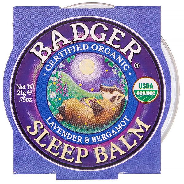 Органический бальзам для сна, лаванда и бергамот, 21г (0,75унции)