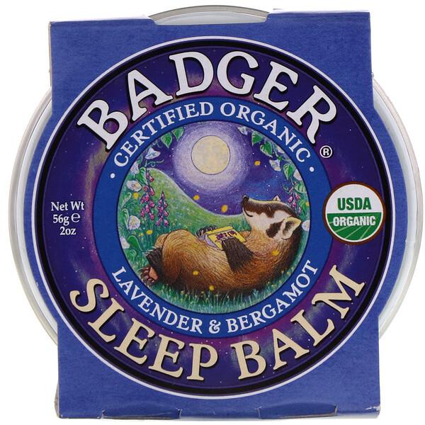 Organic Sleep Balm, Lavender & Bergamot, 2 oz (56 g)