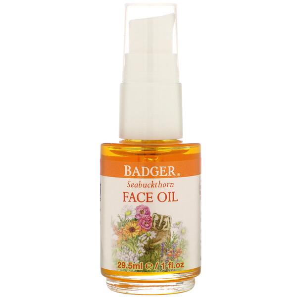 Face Care, Seabuckthorn Face Oil, 1 fl oz (29.5 ml)