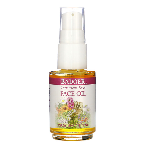 Face Care, Damascus Rose Face Oil, 1 fl oz (29.5 ml)