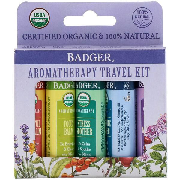 Aromatherapy Travel Kit, 5 Pack, .15 oz (4.3 g) Each