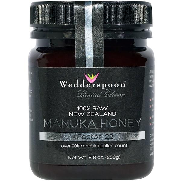 Wedderspoon, 100% необработанный мед Манука, KFactor 22, 8,8 унций (250 г) (Discontinued Item)