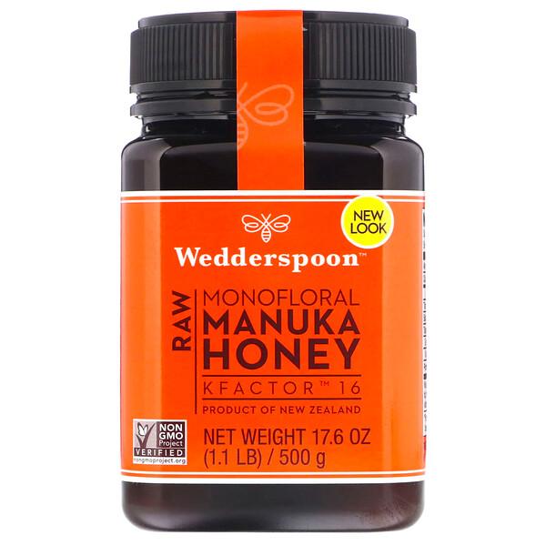 Сырой монофлоральный мед мануки, KFactor16, 500г (1,1фунта)
