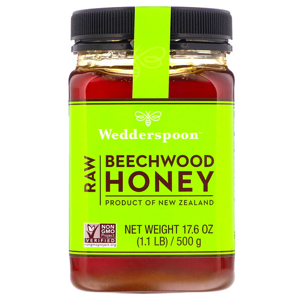 Raw Beechwood Honey, 17.6 oz (500 g)