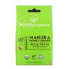 Wedderspoon, Органические капли из меда манука, эвкалипт и пчелиный прополис, 120г (4унции)