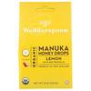Wedderspoon, Органические капли из меда манука, лимон и пчелиный прополис, 120г (4унции)