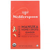 Wedderspoon, Органические капли из меда манука, имбирь и эхинацея, 120г (4унции)