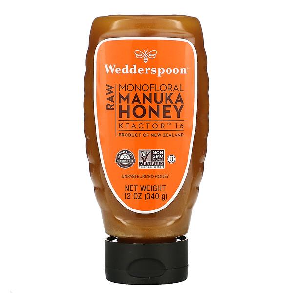 Raw Manuka Honey, KFactor 16, 12 oz (340 g)