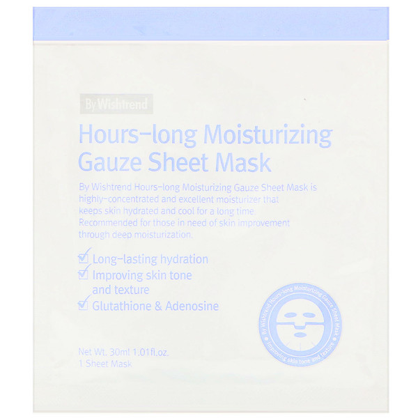 Hours-Long Moisturizing Gauze Sheet Mask, 1 Sheet, 1.01 fl oz (30 ml)