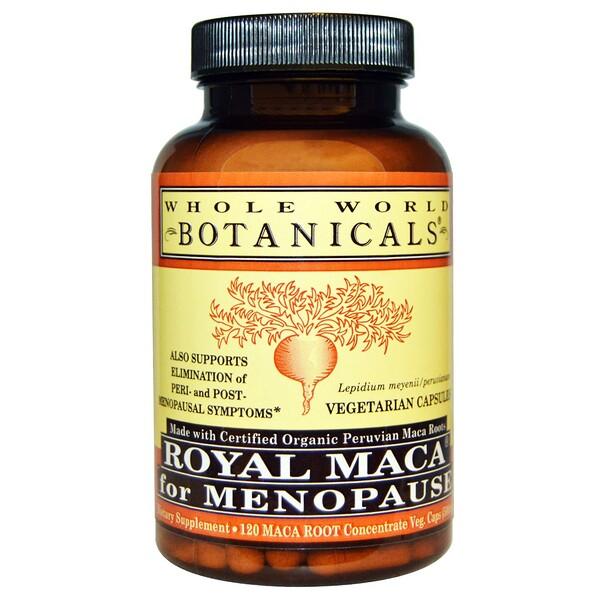 Royal Maca®, королевская мака для приема при менопаузе, 500 мг, 120 вегетарианских капсул
