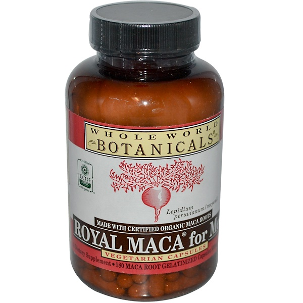 Royal Maca for Men, 500 mg, 180 Gelatinized Veggie Caps