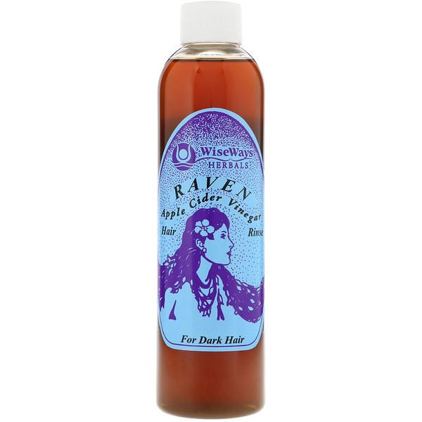 Raven, ополаскиватель для темных волос с яблочным уксусом, 8 унц. (236 мл)