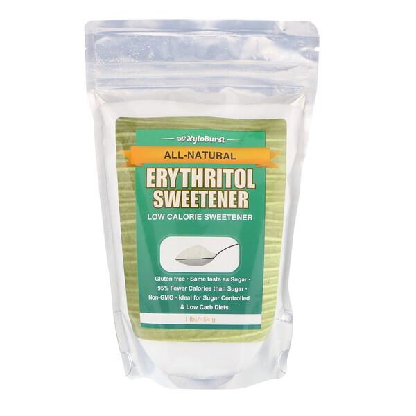 Абсолютно натуральный эритритоловый низкокалорийный подсластитель, 1 фунт (454 г)
