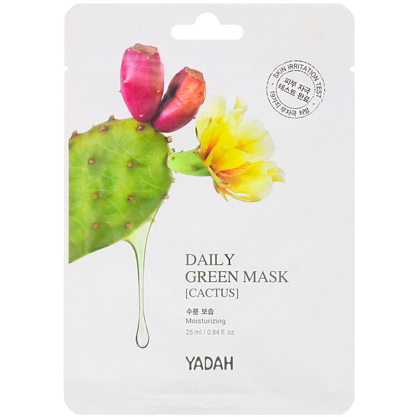 Daily Green Mask, Cactus, 1 Sheet, 0.84 fl oz (25 ml)