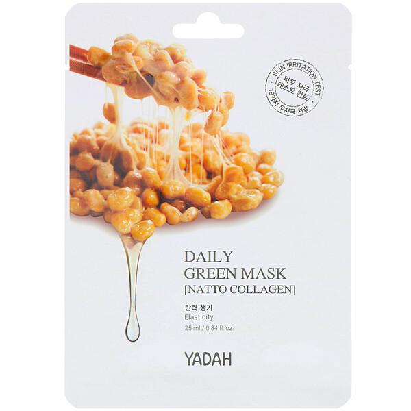 Daily Green Mask, Natto Collagen, 1 Sheet, 0.84 fl oz (25 ml)