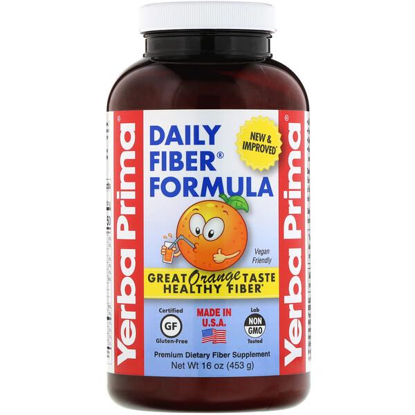 Daily Fiber Formula, Orange , 16 oz (453 g)