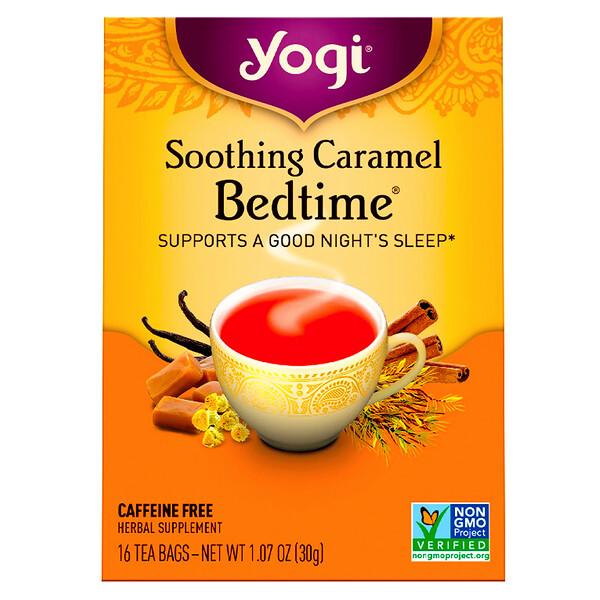 Soothing Caramel Bedtime, без кофеина, 16 чайных пакетиков, 30 г (1,07 унции)