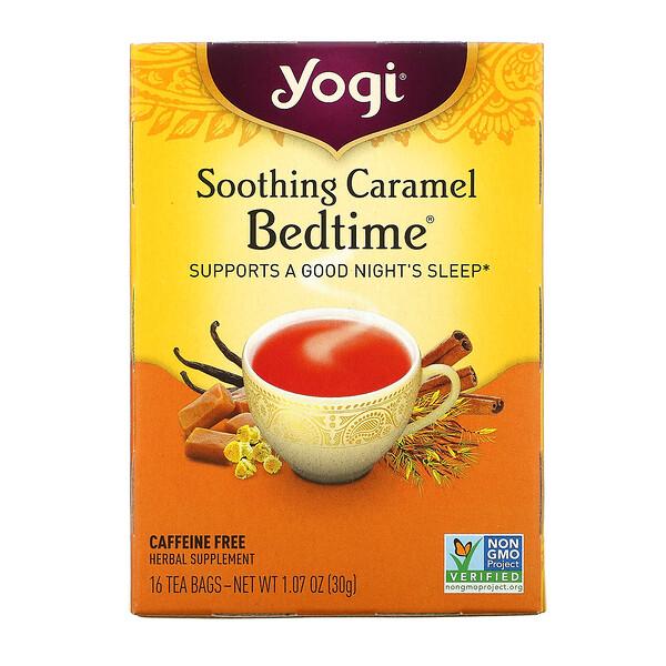Yogi Tea, Soothing Caramel Bedtime, без кофеина, 16 чайных пакетиков, 30 г (1,07 унции)