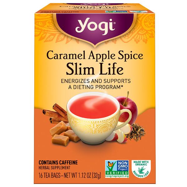 Чай Slim Life, с карамелью, яблоками и специями, 16 чайных пакетиков, 32 г (1,12 унции)