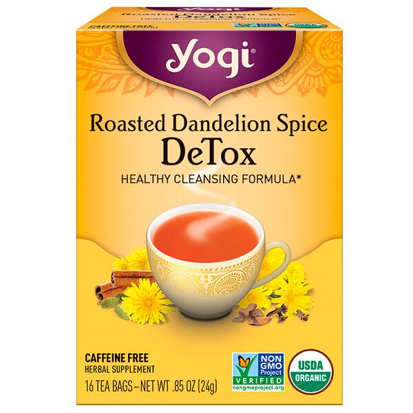 Roasted Dandelion Spice Detox, без кофеина, 16 чайных пакетиков, 0,85 унц. (24 г)