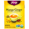 Yogi Tea, Органический чай с манго и имбирем, без кофеина, 16чайных пакетиков, 32г (1,12унций)