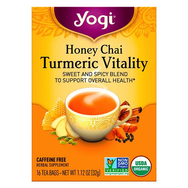 Honey Chai, Turmeric Vitality, 16 Tea Bags,  1.12 oz (32 g)