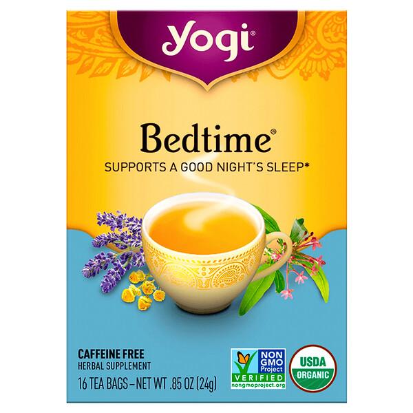 Bedtime, без кофеина, 16 чайных пакетиков, 24 г