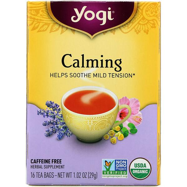 Органический, успокаивающий, без кофеина, 16 чайных пакетиков, 1.02 унций (29 г)