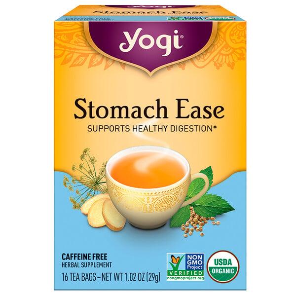 Stomach Ease, без кофеина, 16 пакетиков, 29 г